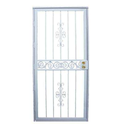36 in. x 80 in. 401 Series White Mariposa Security Door