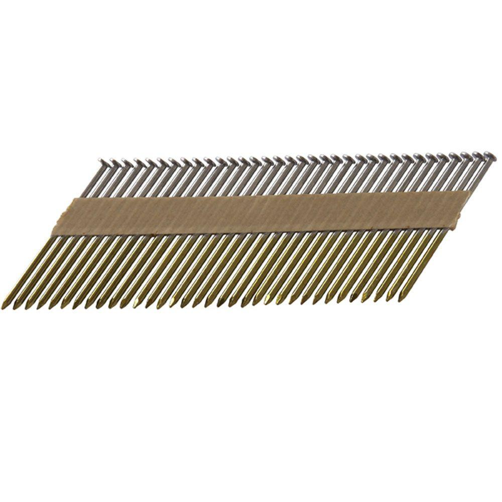 Hitachi 2-3/8 in. x 0.113 in. Paper Tape Smooth Shank Brite Basic Offset Head Framing Nails (4,800-Pack)-DISCONTINUED