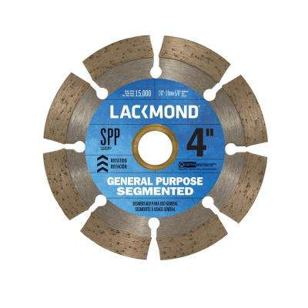 4 in. Segmented Rim Diamond Blade for Dry Cutting