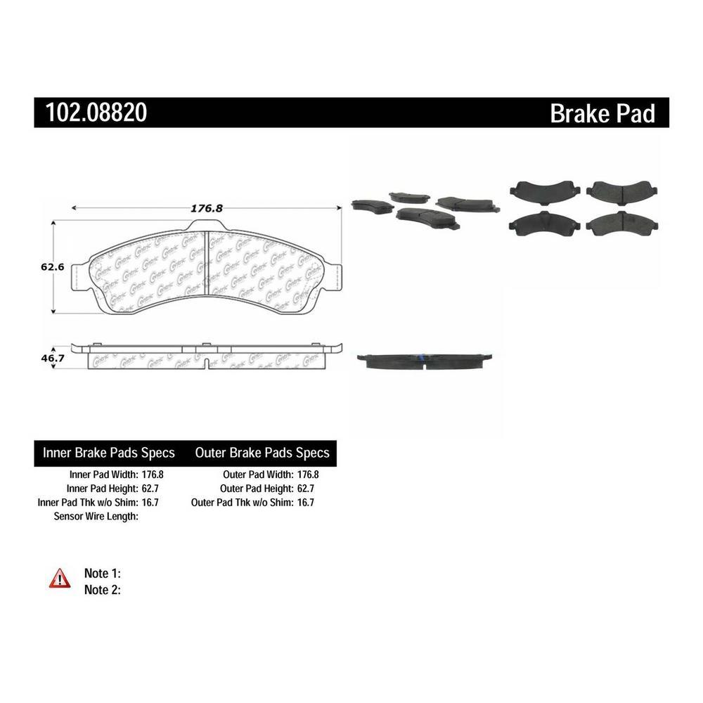 Centric Parts Disc Brake Pad Set P//N:102.08890