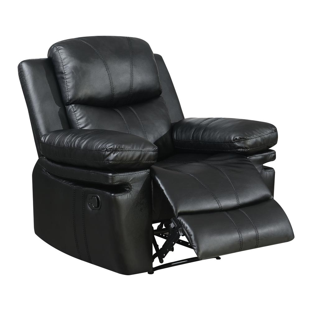 Brody Black Bonded Leather Recliner