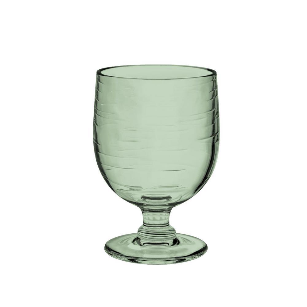 10.5 oz. 6-Piece Cordoba Recycled Green Stacking Goblet Set