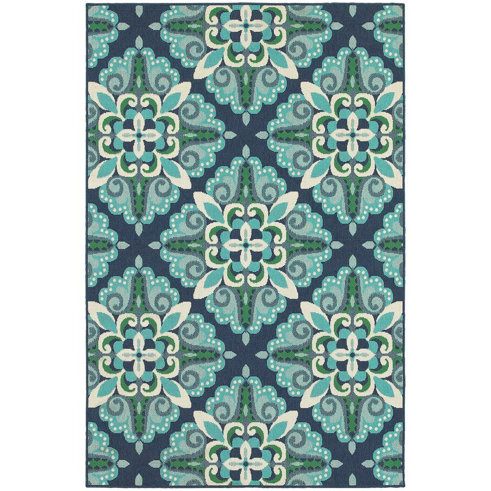 Bayview Blue Aqua 3 ft. 7 in. x 5 ft. 6