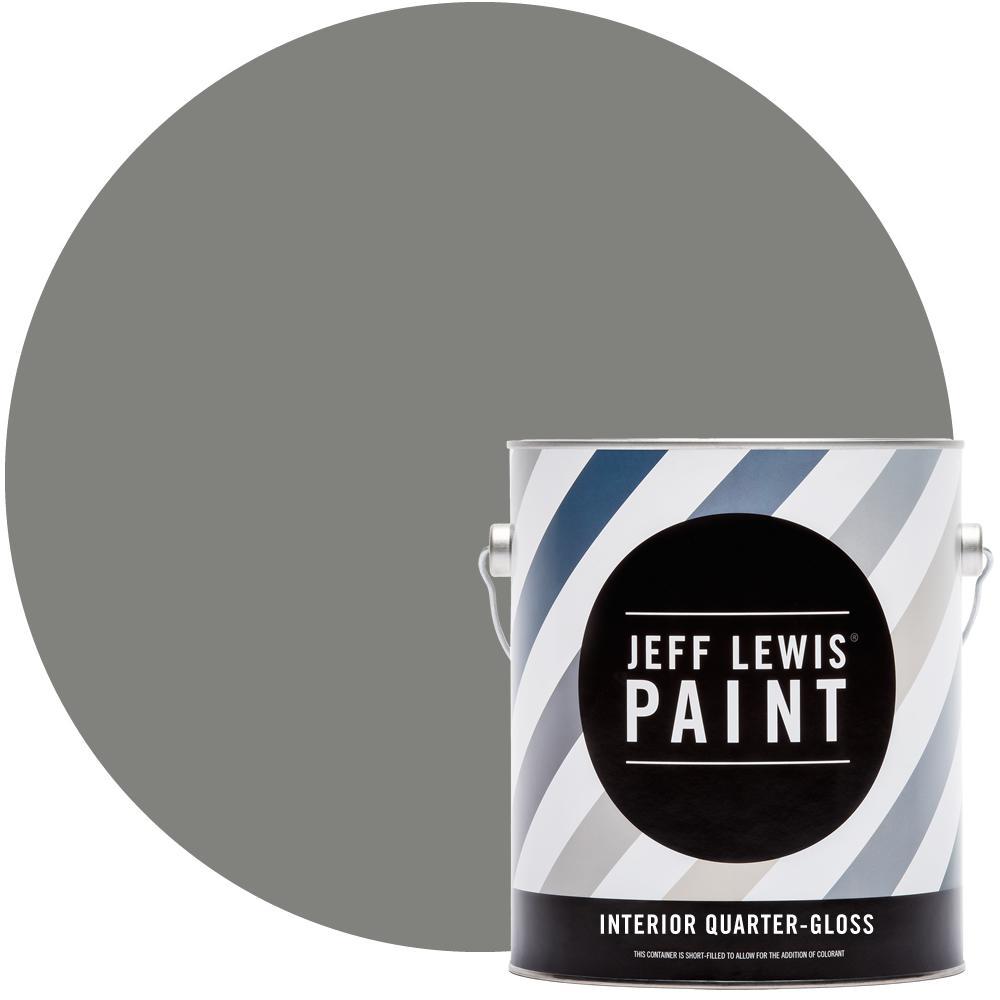 Jeff Lewis 1 gal. #411 Earl Grey Quarter-Gloss Interior Paint