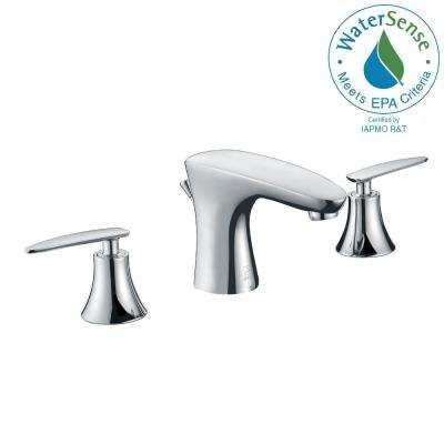 Chord Series 8 in. Widespread 2-Handle Low-Arc Bathroom Faucet in Polished Chrome