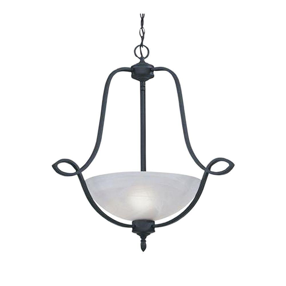 Designers Fountain Newburgh Collection 3-Light Natural Iron Hanging Pendant