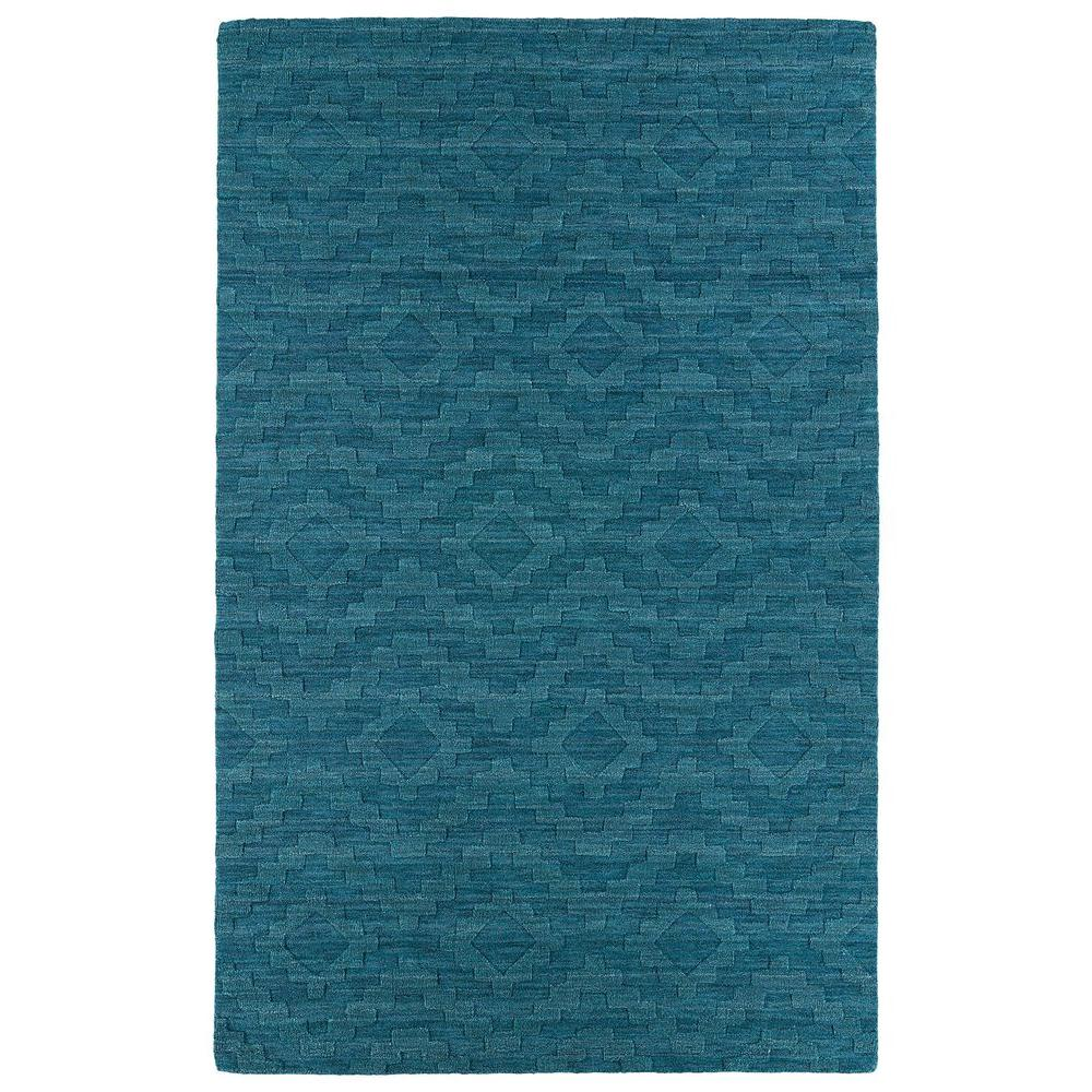 Kaleen Imprints Modern Turquoise 3 ft. 6 in. x 5 ft. 6 in. Area Rug