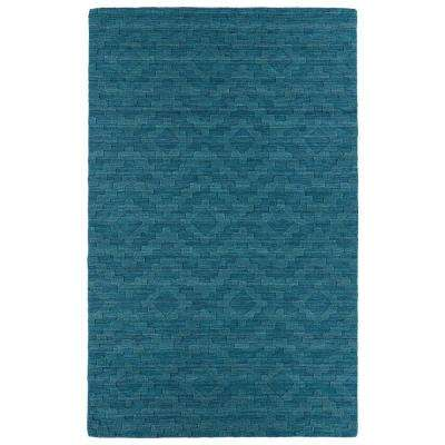 Imprints Modern Turquoise 8 ft. x 11 ft. Area Rug