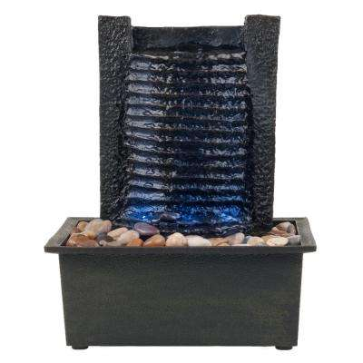 10.5 in. LED Waterfall Tabletop Fountain