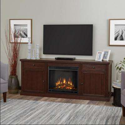 Cassidy 69 in. Electric Fireplace TV Stand Entertainment Center in Chestnut Oak