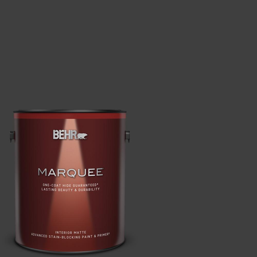 Behr Marquee 1 Gal Black One Coat Hide