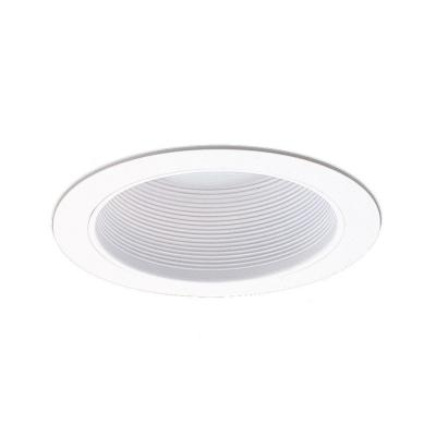 NICOR 6 in. White Recessed Baffle Trim for Sloped Ceiling