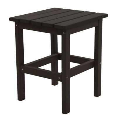 Icon Black Square Plastic Outdoor Side Table