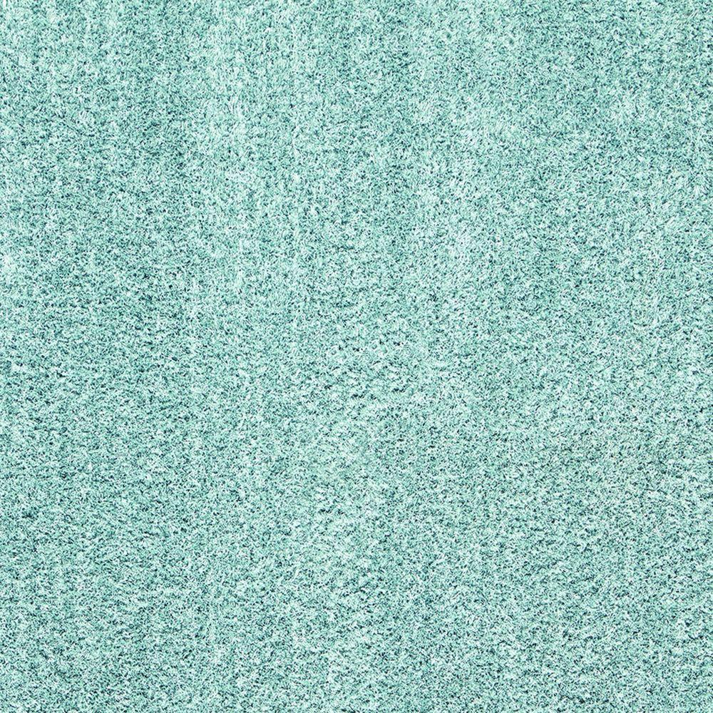 Solstice Aqua Spill Blue 7 ft. x 10 ft. Shag Area Rug