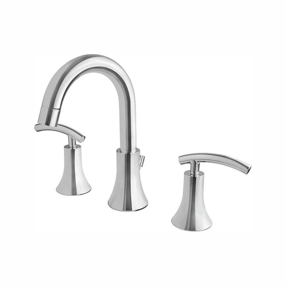 Ultra Faucets Contemporary Collection 8 in. Widespread 2-Handle Bathroom Faucet in Chrome