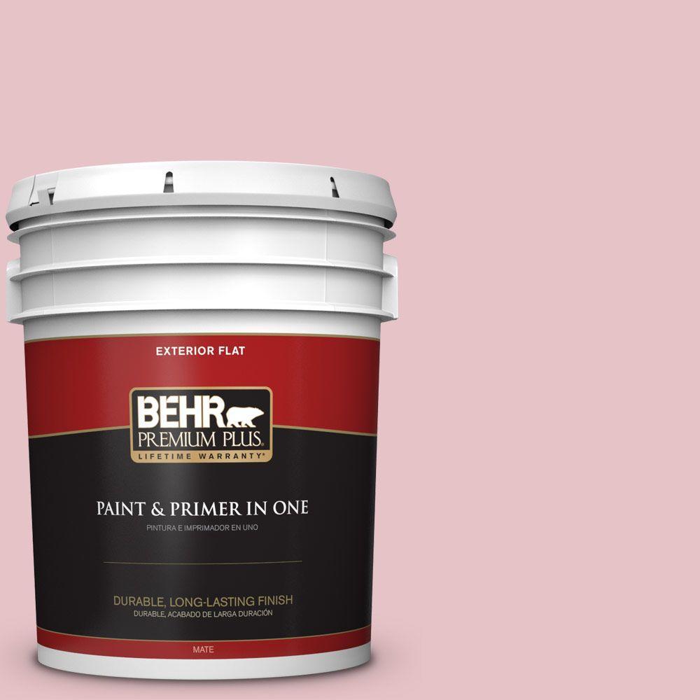 BEHR Premium Plus 5-gal. #S140-2 Cranapple Cream Flat Exterior Paint