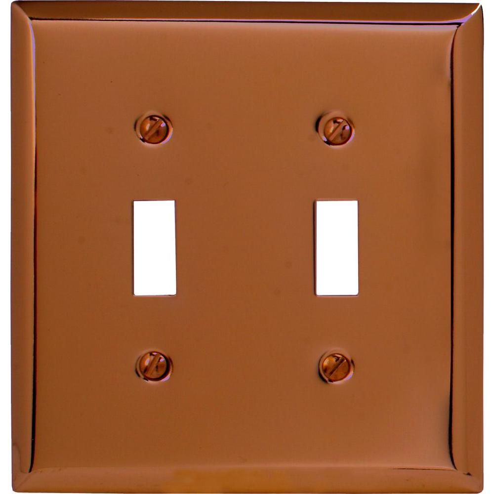 Colored Electrical Wall Plates Hampton Bay Steps 2 Decora Wall Plate  Antique Copper84Rrac