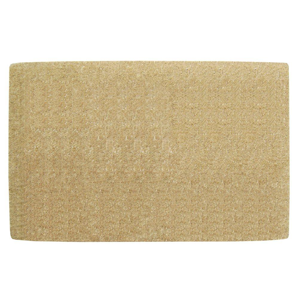 No Border Plain 30 in. x 48 in. Coir Door Mat