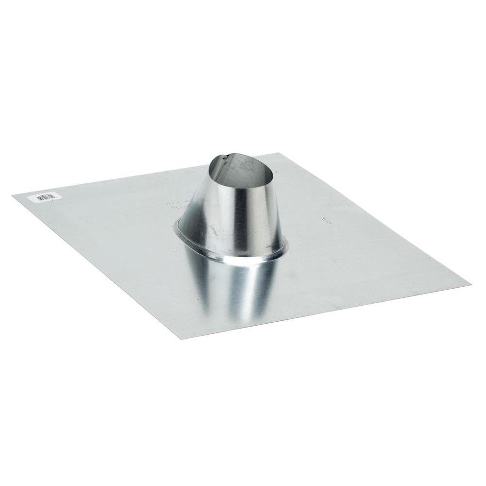 FHA Base 4 in. Galvanized Soil Vent Pipe Flashing