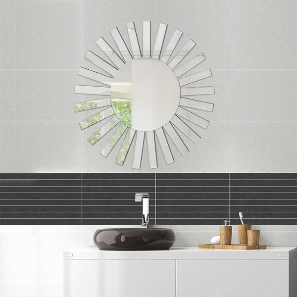 Fab Glass And Mirror Medium Round Hooks Mirror 35 In H X 35 In W Fab Wstc006 The Home Depot