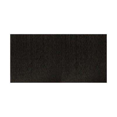 Ripple Vertical 96 in. x 48 in. Decorative Wall Panel in Black