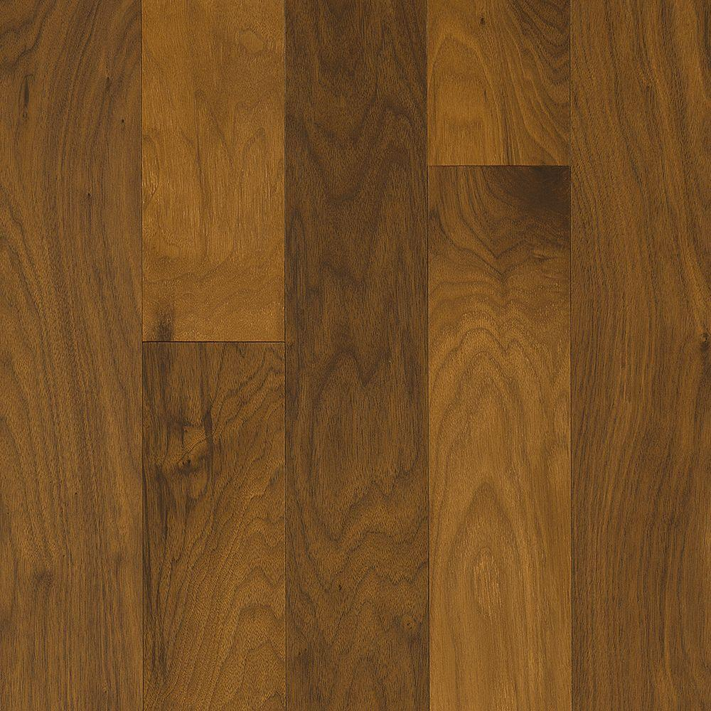 Take Home Sample Walnut Clay Engineered Hardwood Flooring 5 In X 7