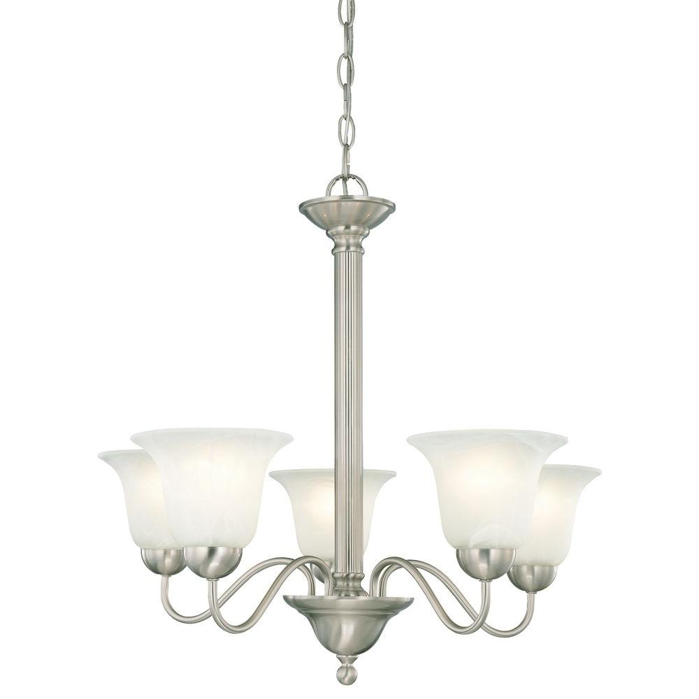 Riva 5-Light Brushed Nickel Chandelier