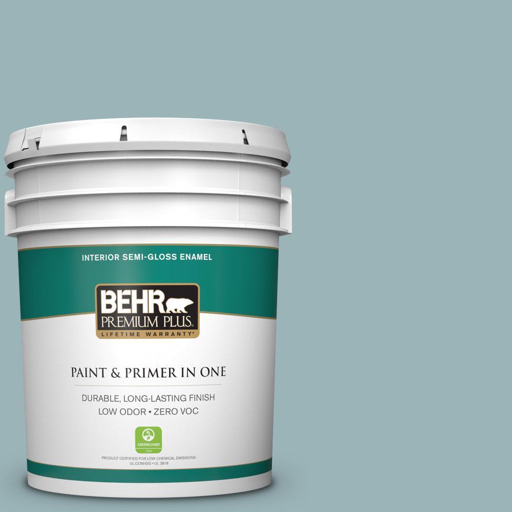 5 gal. #PPU13-12 Harmonious Zero VOC Semi-Gloss Enamel Interior Paint