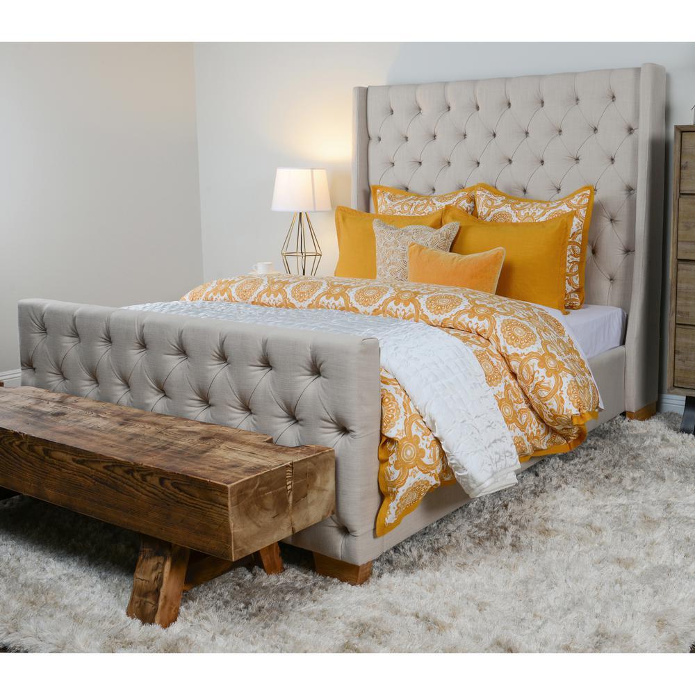 Resort Mango Cotton Queen Duvet Cover by