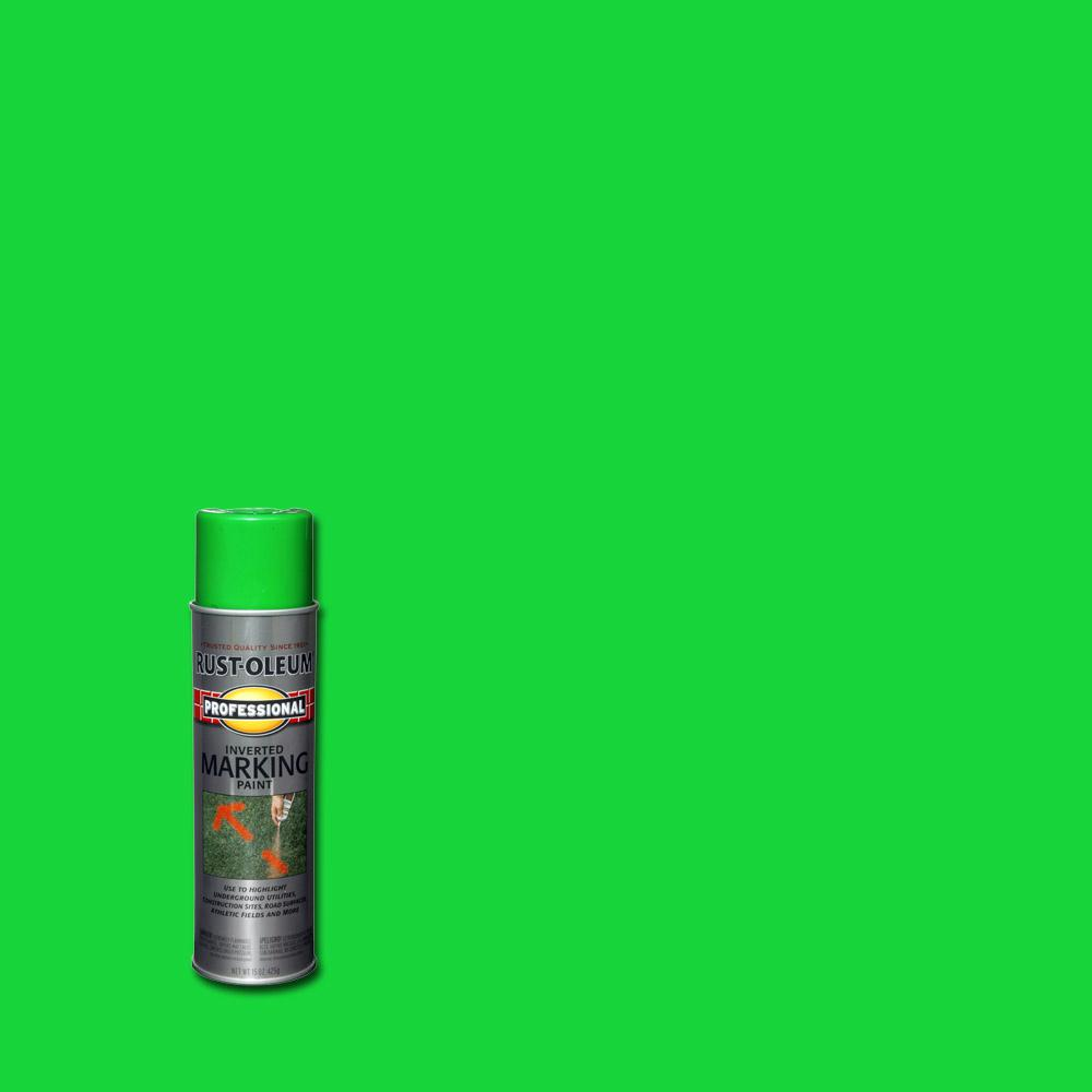 Fluorescent Green Inverted Marking Spray Paint