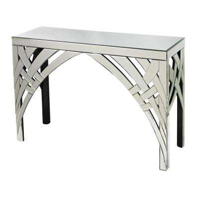 Arched Ribbons Mirrored Console Table