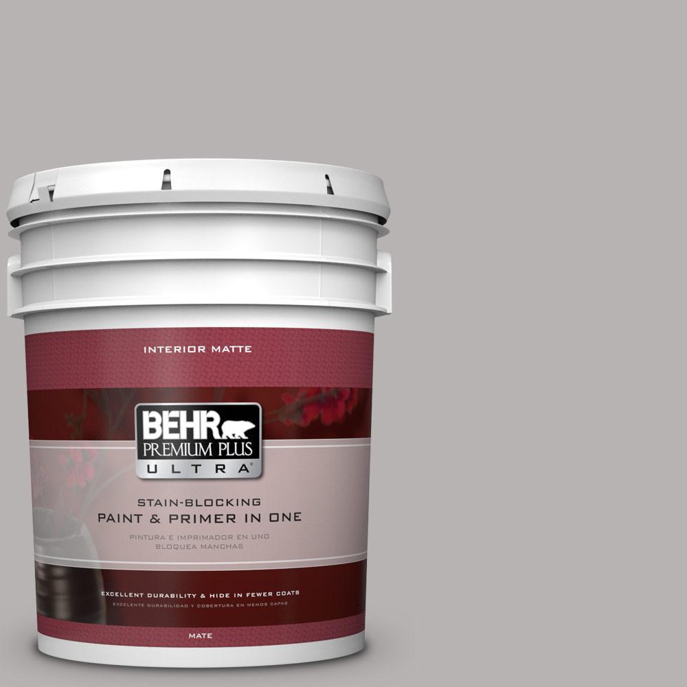 BEHR Premium Plus Ultra 5 gal. #790E-3 Porpoise Flat/Matte Interior Paint