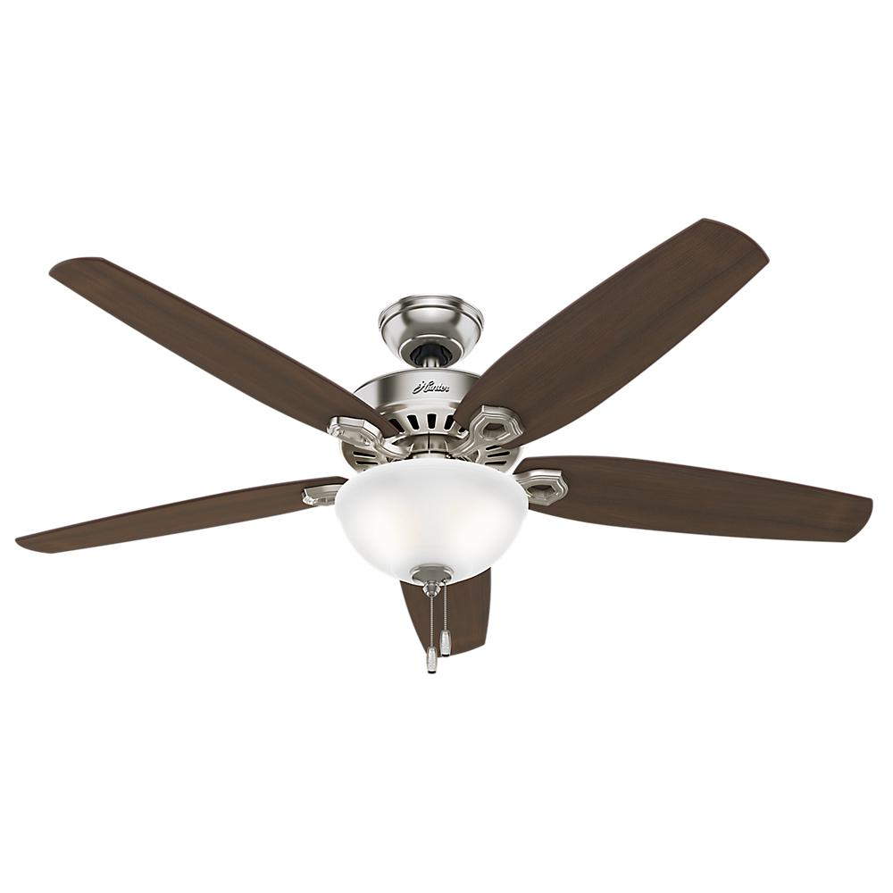 Hunter builder great room 56 in indoor brushed nickel bowl hunter builder great room 56 in indoor brushed nickel bowl ceiling fan with light kit 53364 the home depot aloadofball Image collections