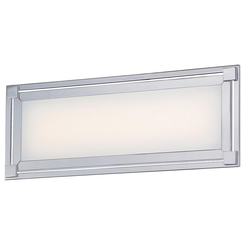 Framed 27-Watt Chrome Integrated LED Bath Light
