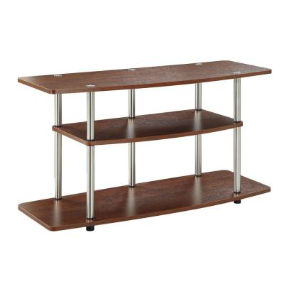 Designs2Go 42 in. Cherry Particle Board TV Console 42 in. with Cable Management