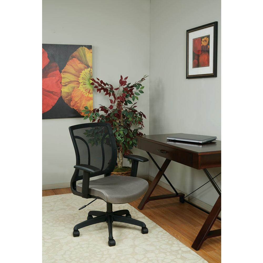Work Smart Black And Grey Screen Back Office Chair Em50727