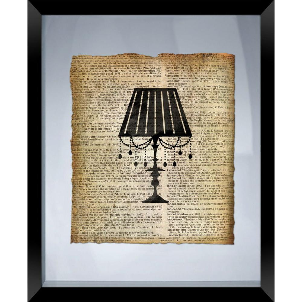 "PTM Images 22 in. x 18 in. ""Lamp"" Framed Wall Art"