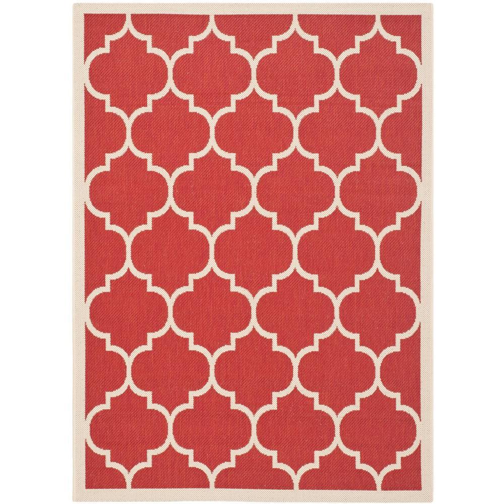 Safavieh Courtyard Red Bone 4 Ft X 5 Ft 7 In Indoor