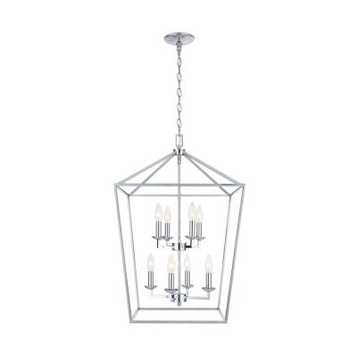 Weyburn 8-Light Polished Chrome Caged Chandelier