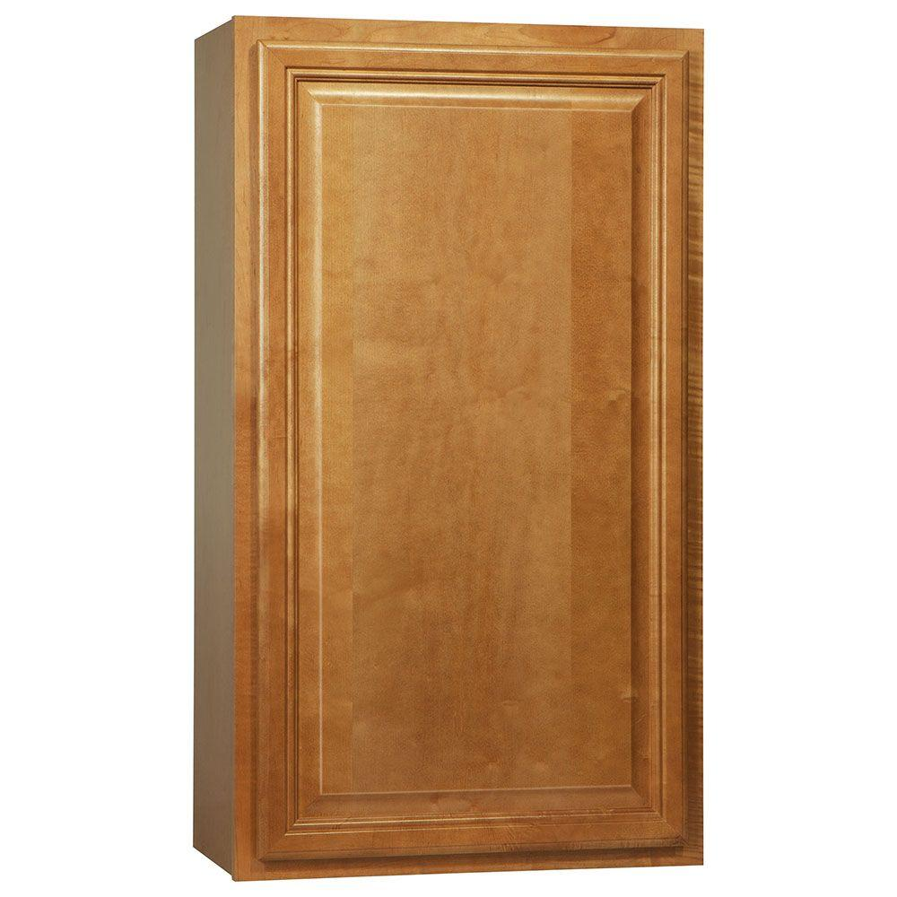 Hampton bay cambria assembled 24x42x12 in wall kitchen for Ready made kitchen wall cabinets