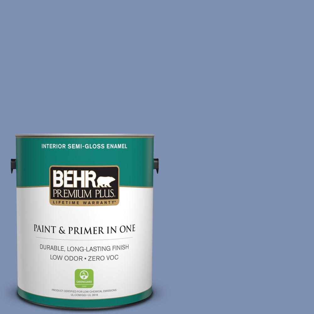 BEHR Premium Plus 1-gal. #600D-5 Babbling Brook Zero VOC Semi-Gloss Enamel Interior Paint