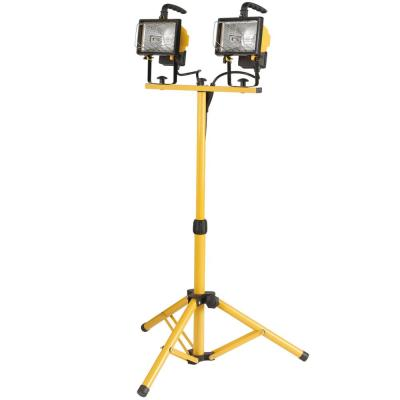 500-Watt Twin-Head Halogen Yellow Work Light
