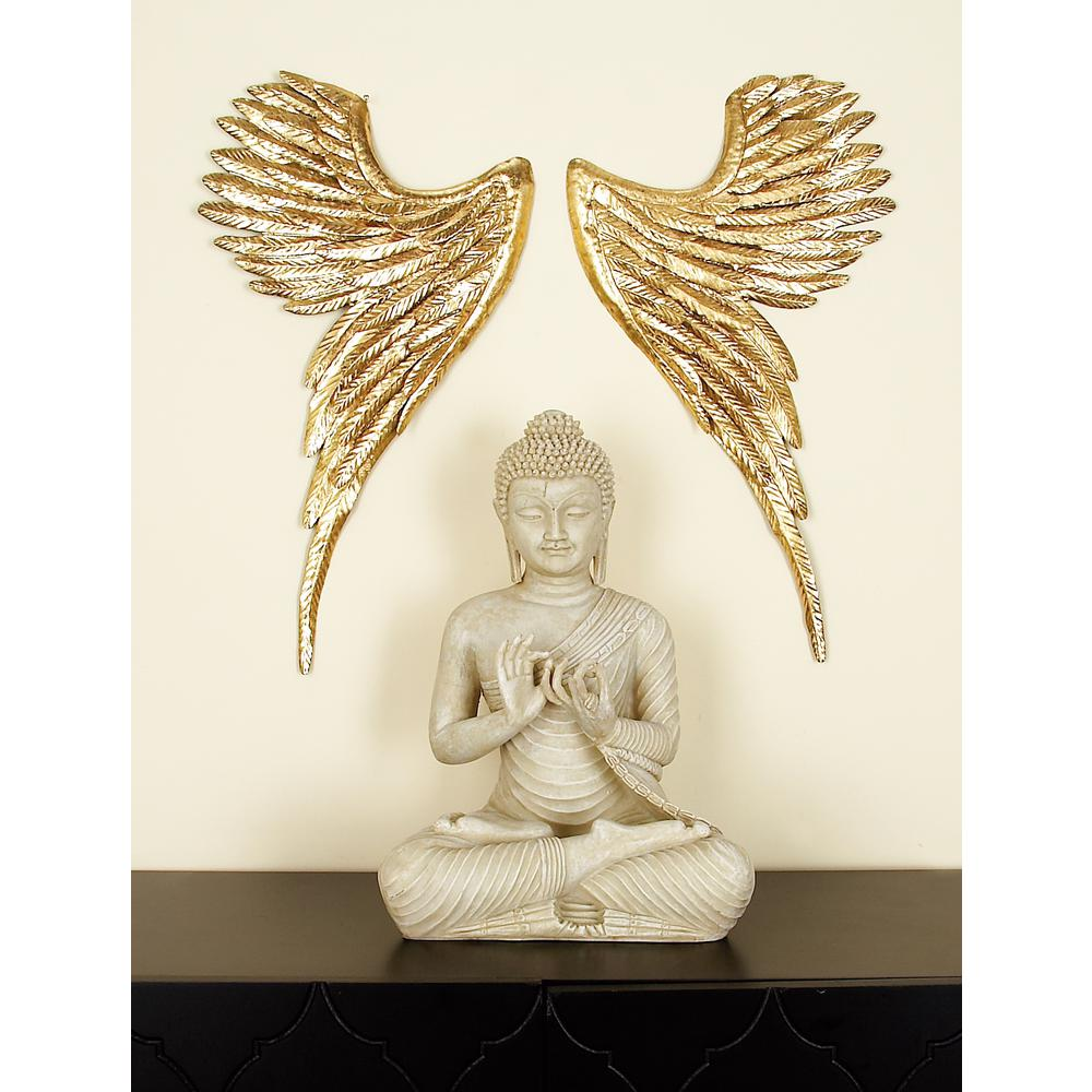 Modern Angel Wings Metal Wall Decor
