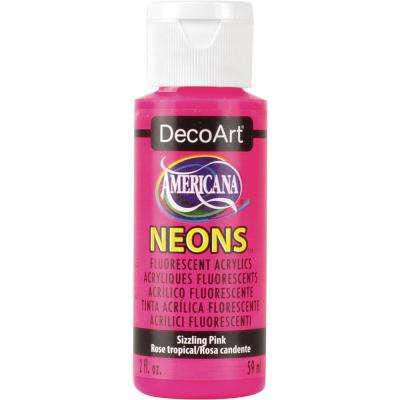 2 oz. Sizzling Pink Acrylic Paint
