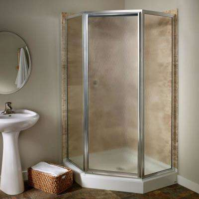 Euro 60 in. x 70 in. Semi-Framed Bypass Shower Door in Oil-Rubbed Bronze Finish with Clear Glass