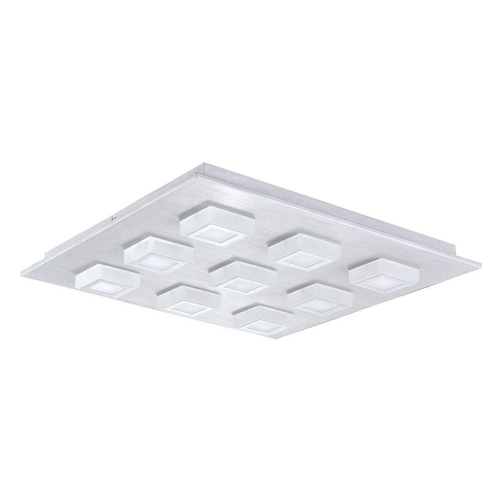 EGLO Masiano 9-Light Brushed Aluminum Integrated LED Ceiling/Wall Light