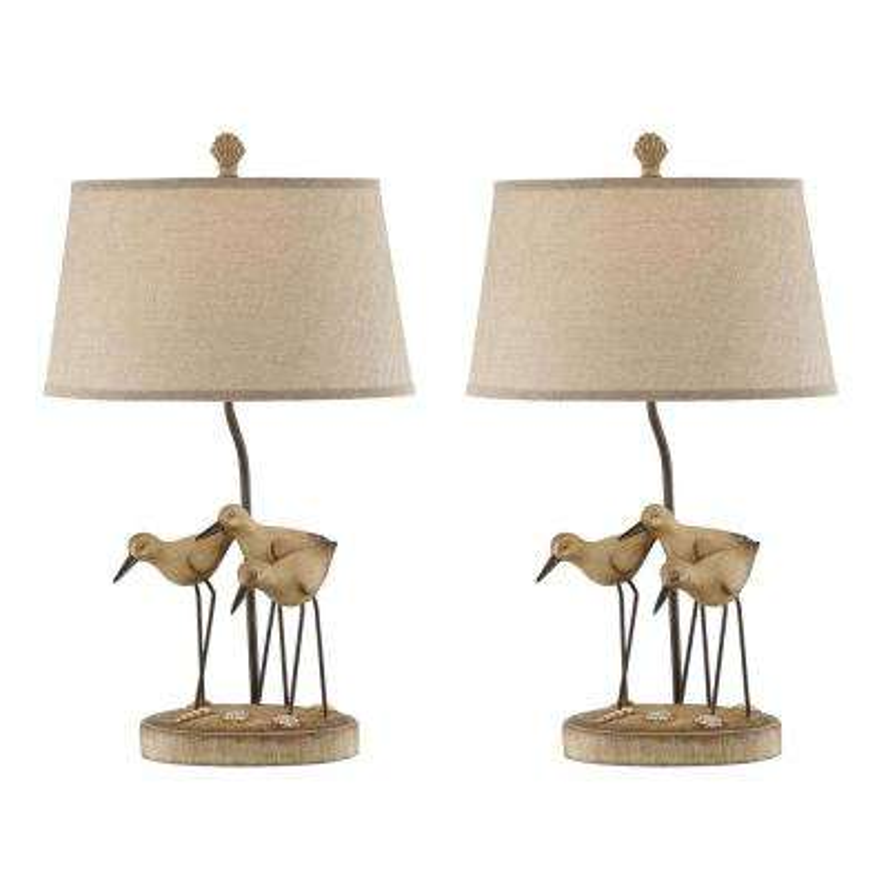 28.5 in. Sandstone Indoor Table Lamp Set
