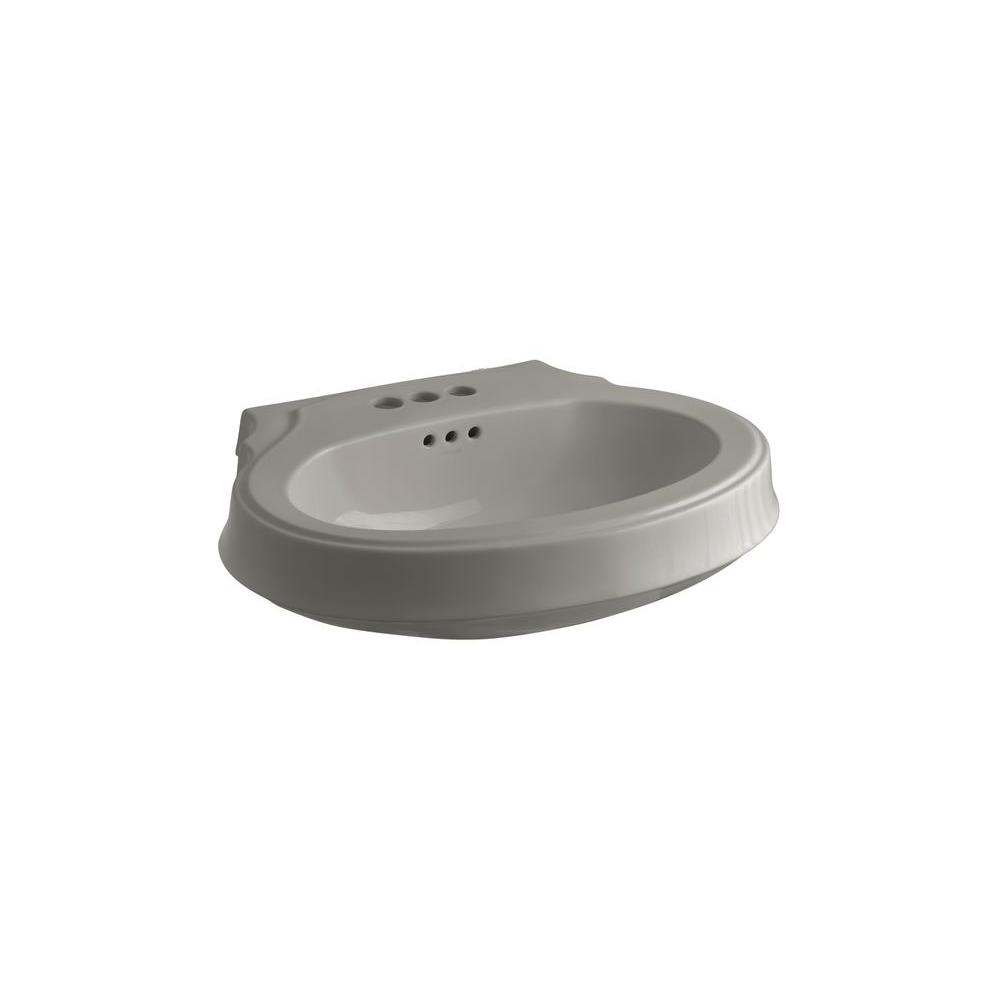 KOHLER Leighton 4-1/8 in. Pedestal Sink Basin in Cashmere-DISCONTINUED