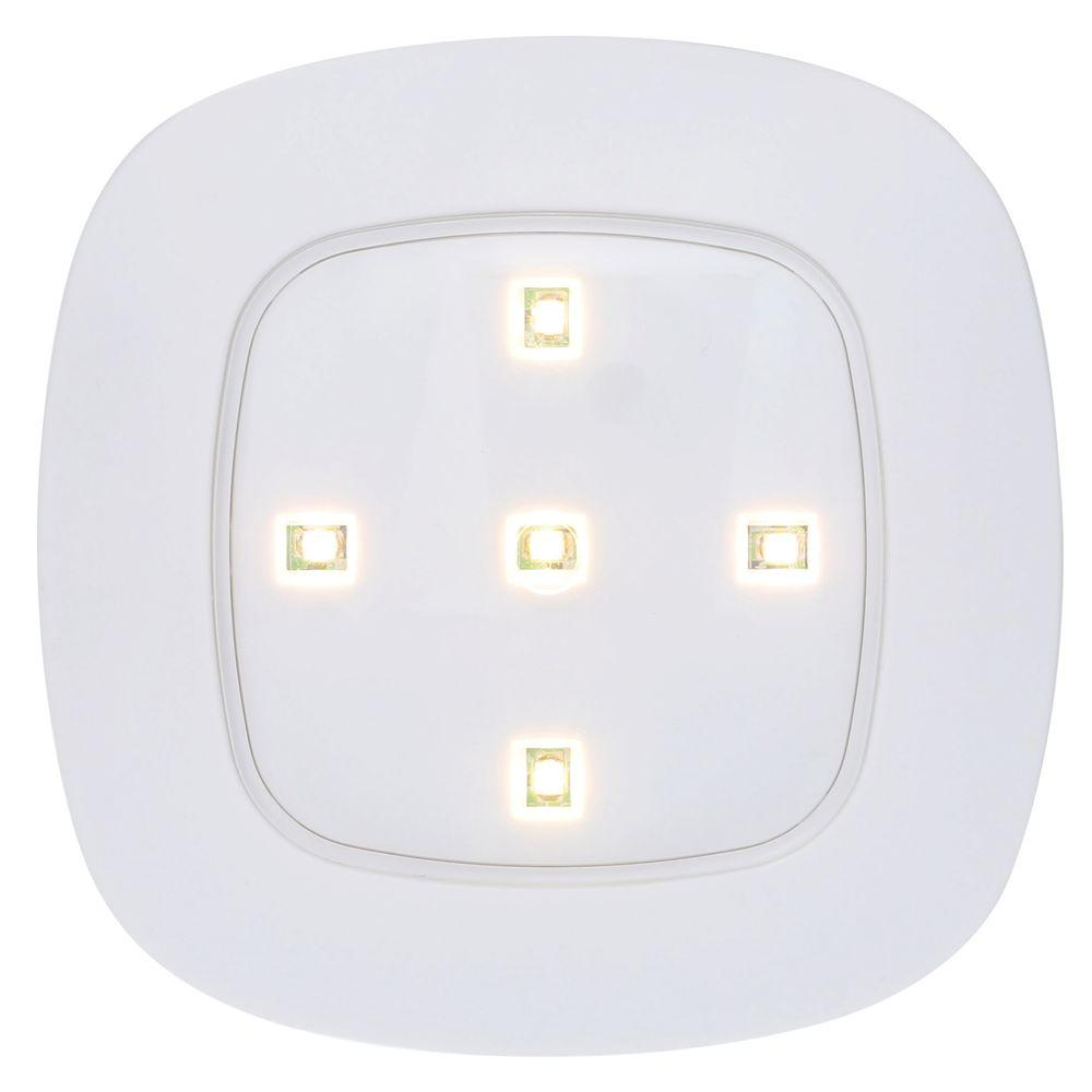 Light It! White Wireless Remote Control LED Puck Light-30020-308 ...