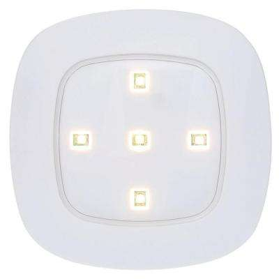 White Wireless Remote Control LED Puck Light